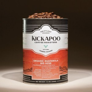 Kickapoo Coffee Reusable Tin Cans @ Wormhole Coffee Chicago