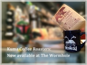 kuma coffee available at wormhole, daily.
